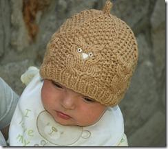 детская шапочка с совами