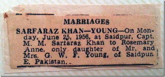 marriage newspaper cutting