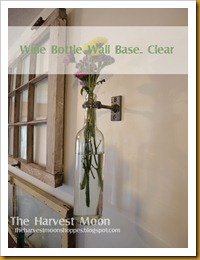 Wine Bottle Wall Vase Clear
