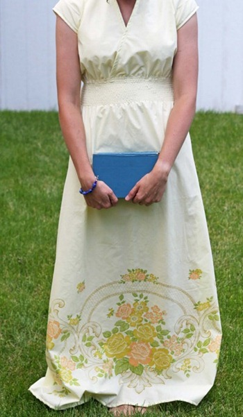 vintage maxi dress tutorial