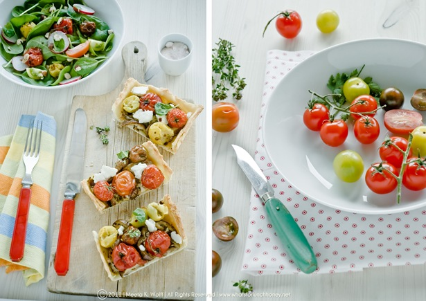 Roasted Tomato Aubergine and Tahini Tart Dip (0014) by Meeta K. Wolff