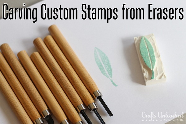 Carving Custom Stamps Using Erasers!