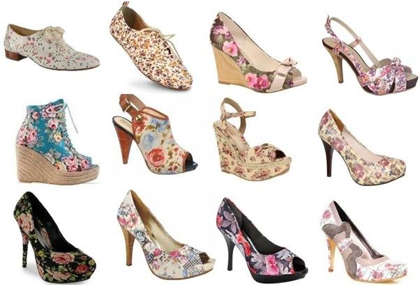 sapatos florais