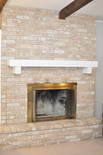 Monica Wants It: A Lifestyle Blog: How to Paint a Brick Fireplace ...