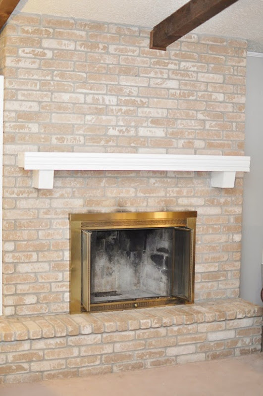 How To Paint A Brick Fireplace Tutorial Monica Wants It