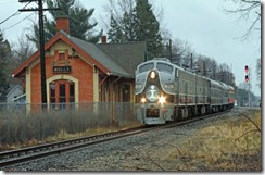 Holly train station with train by archlapeer