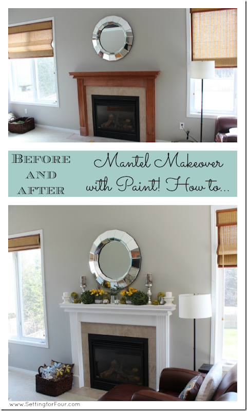 Painted Mantel Reveal from Setting for Four