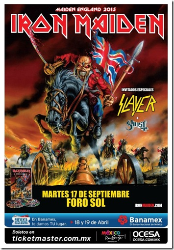 cartel iron maiden en mexico 2013