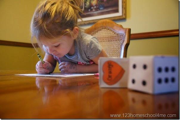 toddler and preschool valetniens day kids activities