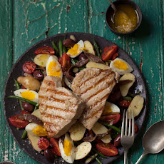 Nicoise Salad With Grilled Tuna Steaks