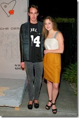 MIAMI BEACH, FL - DECEMBER 03: Nick Remsen (L) and Ashley Simpson attend the Porsche Design x Thierry Noir Art Basel Miami Beach Event at The Temple House on December 3, 2013 in Miami Beach, Florida.  (Photo by Neilson Barnard/Getty Images for Porsche Design)