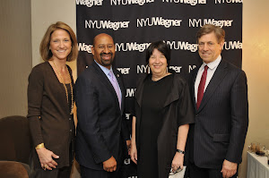 Wagner Dean's Council member Bridget Ryan Berman with Philadelphia Mayor Michael A. Nutter, NYU Wagner Dean Ellen Schall and Wagner Dean's Council Chair Rick Cotton