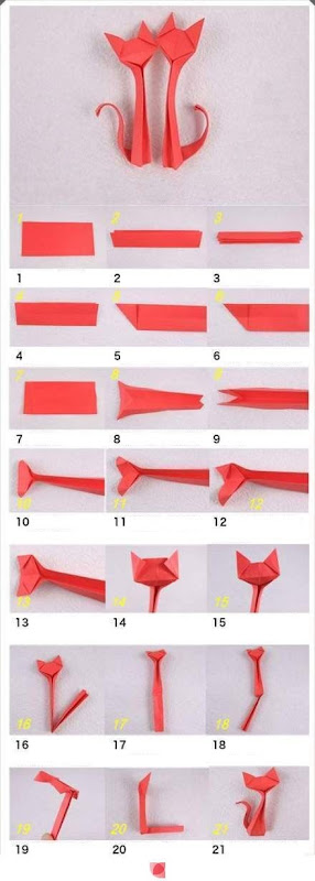 gatos origami
