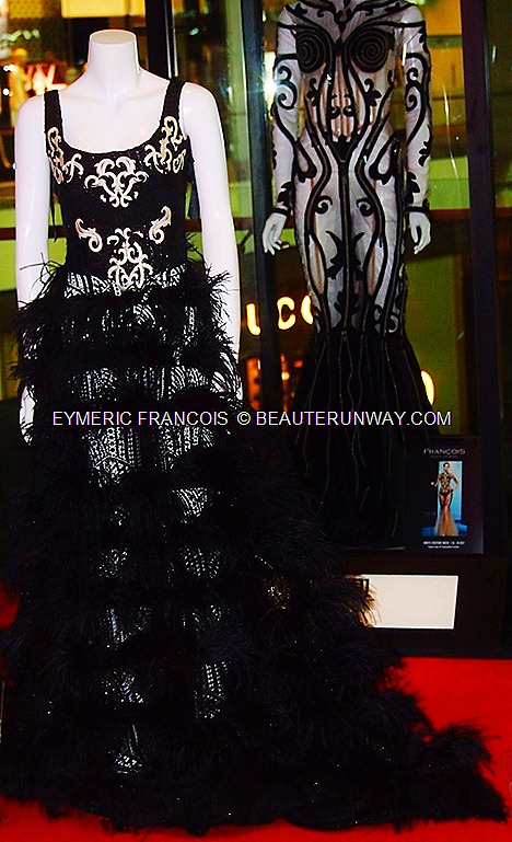 Eymeric François Haute Couture Leather corset with feathers