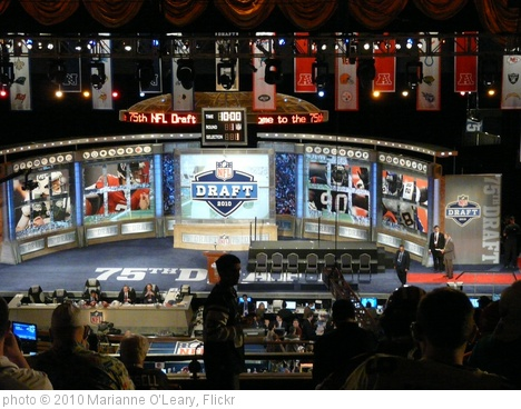 'NFL Draft 2010 Stage from 2nd floor at Radio City Music Hall' photo (c) 2010, Marianne O'Leary - license: http://creativecommons.org/licenses/by/2.0/