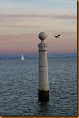 Lisbon, royal pole waterfront