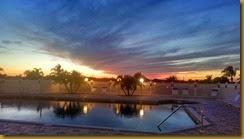 AS 245 sunset over pool