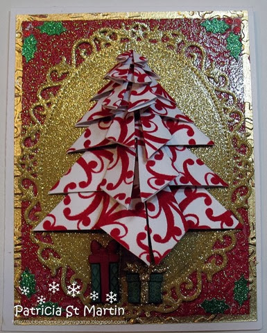 Origami Christmas tree in red 2013