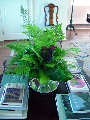 Ferns and hosta - just a sampling from Martha's impressive collection.