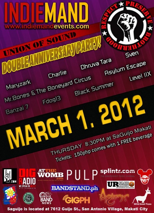 Union of Sound Pilipinas &amp; INDIEMAND Double Anniversary Party