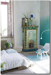 Dip dye ombre walls- TEAL via poppytalk