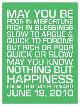 Irish Wedding Blessing Print BalancingHome