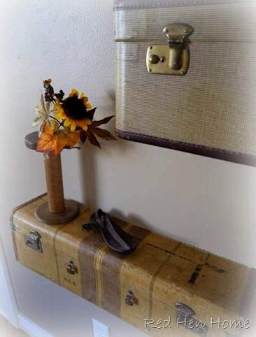 Vintage Luggage Wall Shelf Shelves