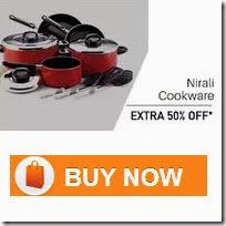 Get Rs.500 Cashback on Rs.1000 on Nirali Cookware at PayTM