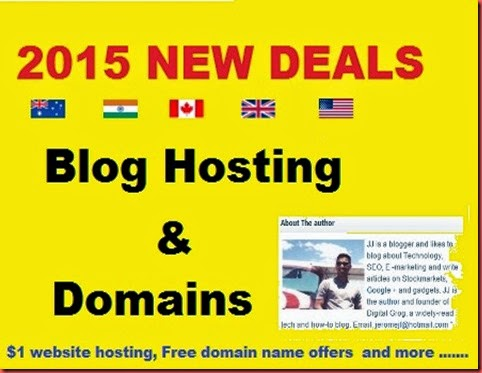 Blog hosting deals 2015