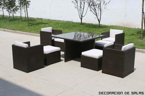 Materiales de los muebles de jardin decoracion de interiores for Mobiliario jardin rattan