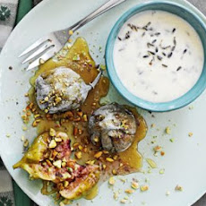 Baked Figs With Rosewater, Pistachios And Mascarpone