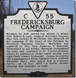 Fredericksburg Campaign, Fauquier County, VA Marker C-55