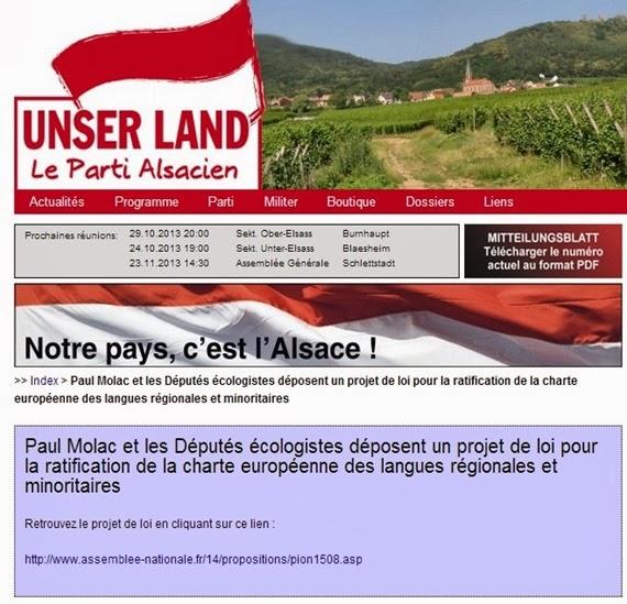 Unser Land Le parti Alsacien
