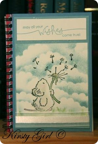 Kirsty Girl's Penny Black Stampin Up notebook #2