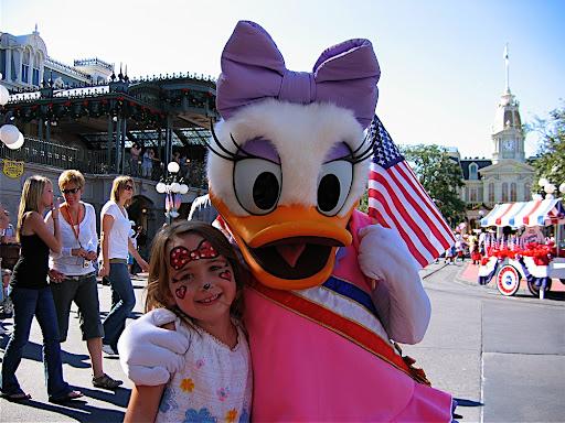 Daisy duck makeup
