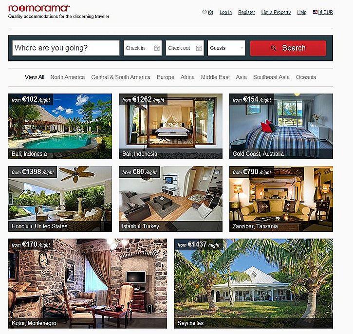 Roomorama home page