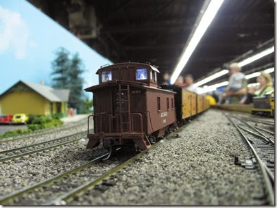 IMG_5381 Atchison, Topeka & Santa Fe Caboose #1343 on the LK&R HO-Scale Layout at the WGH Show in Portland, OR on February 17, 2007