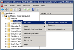 Terence luk missing certificate templates while requesting but notice that the list displayed under the active directory enrollment policy in the request certificates step of the certificate enrollment process does yadclub Image collections