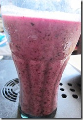 blueberry smoothie glass, 240baon