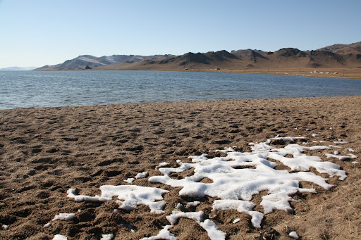 Mongolian beach in September