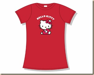 camiseta-chica-hello-kitty-manzana-roja