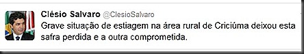 Salvaro twit seca