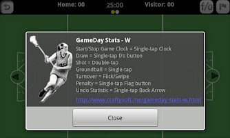 Screenshot of GameDay Stats W - Lacrosse