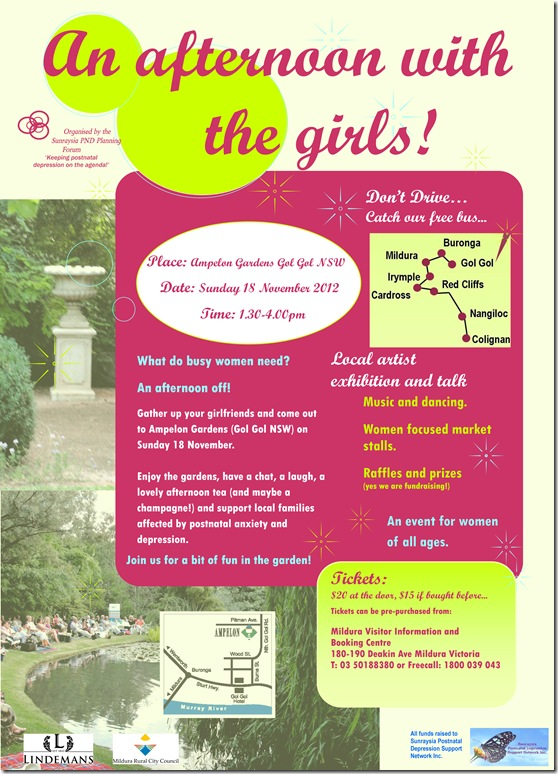 Girls Afternoon Out flyer 2012