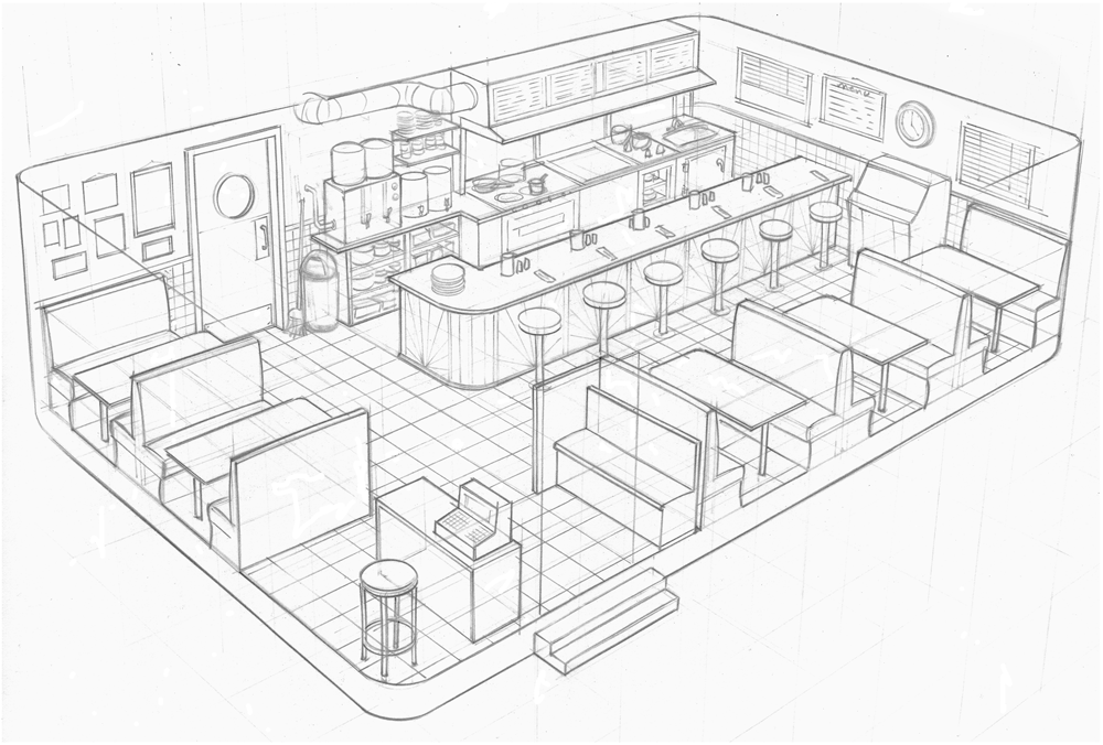 Drawing Lines In Yed : Dibujos de restaurantes imagui