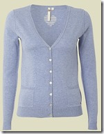 White Stuff Pale Periwinkle Blue Cardigan