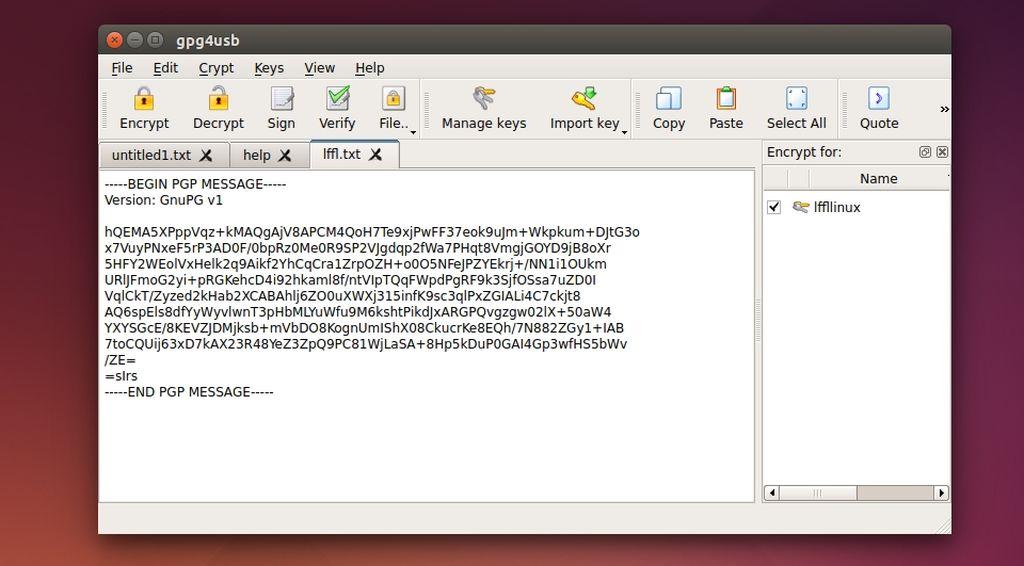 Gpg4Usb in Ubuntu Linux