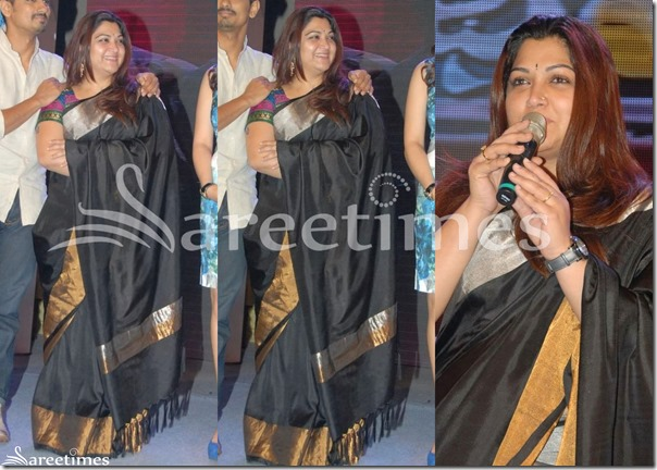 Kushboo_Black_Silk_Saree