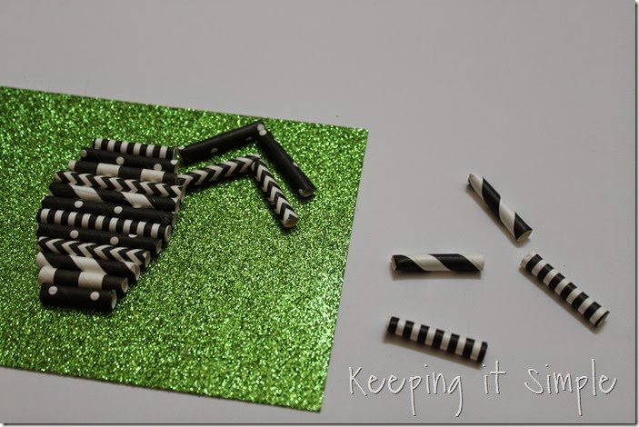 Halloween decoration Paper straw spider (4)