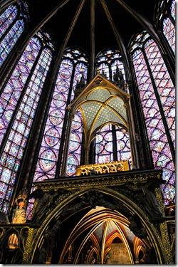 The upper chapel of the Sainte-Chapelle - Paris France